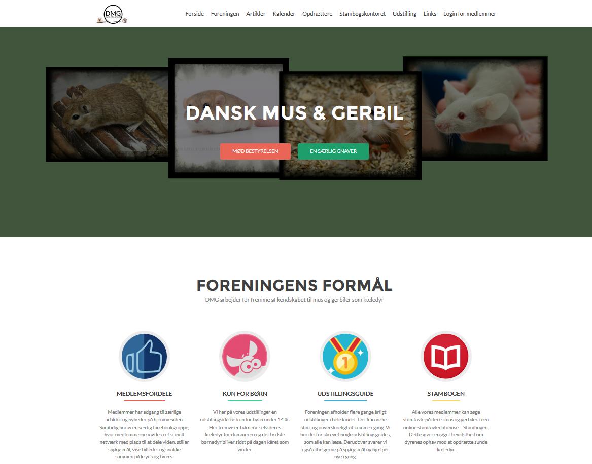 Nyt hjemmeside-layout